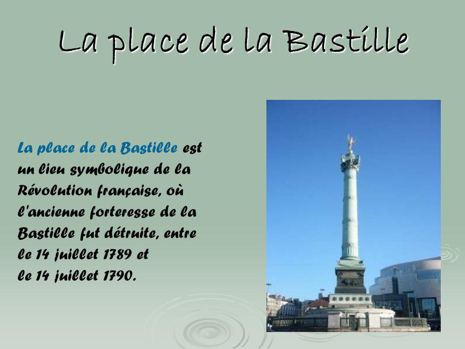 La place de la Bastille La place de la Bastille est