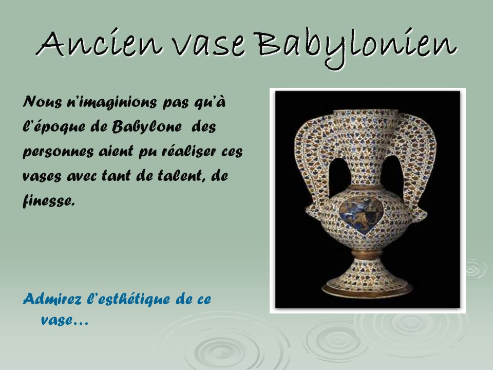 Ancien vase Babylonien