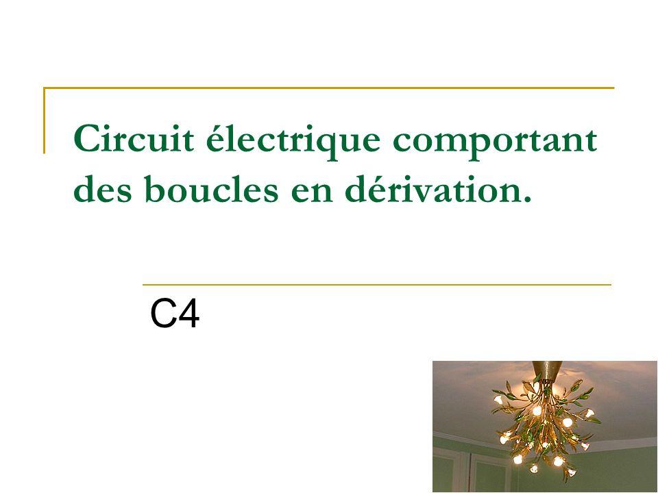 Circuit électrique comportant des boucles en dérivation.