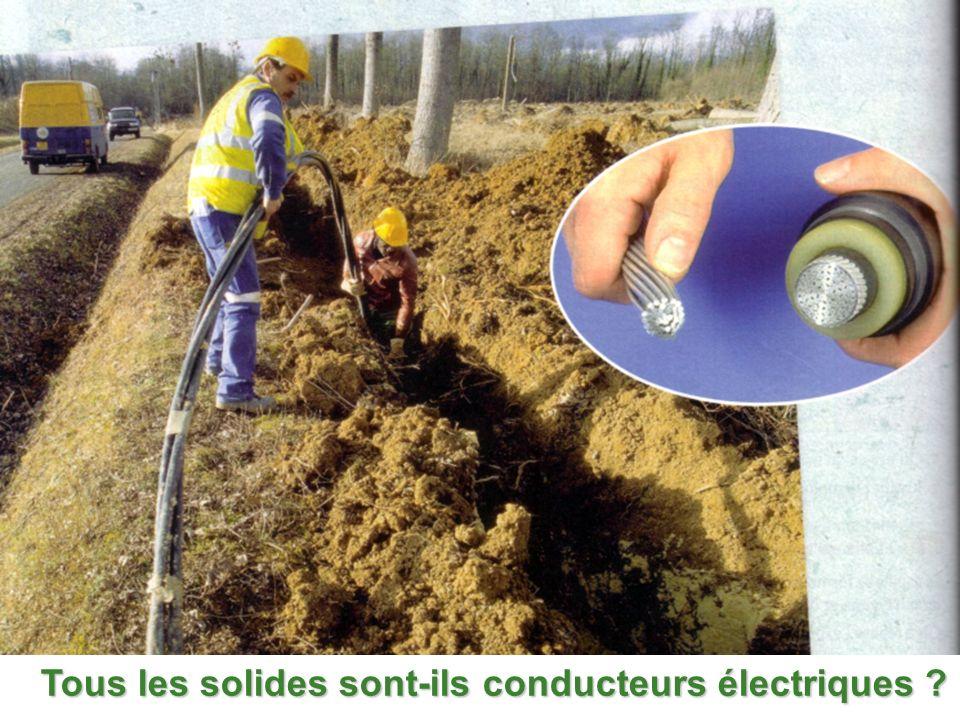 Tous les solides sont-ils conducteurs électriques