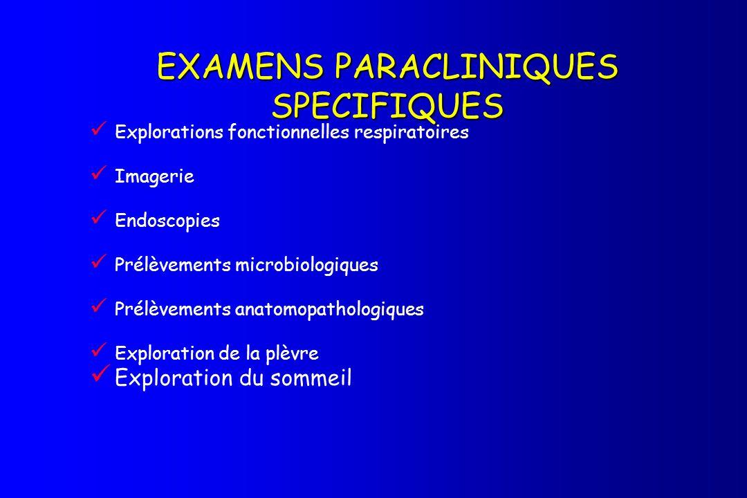 EXAMENS PARACLINIQUES SPECIFIQUES