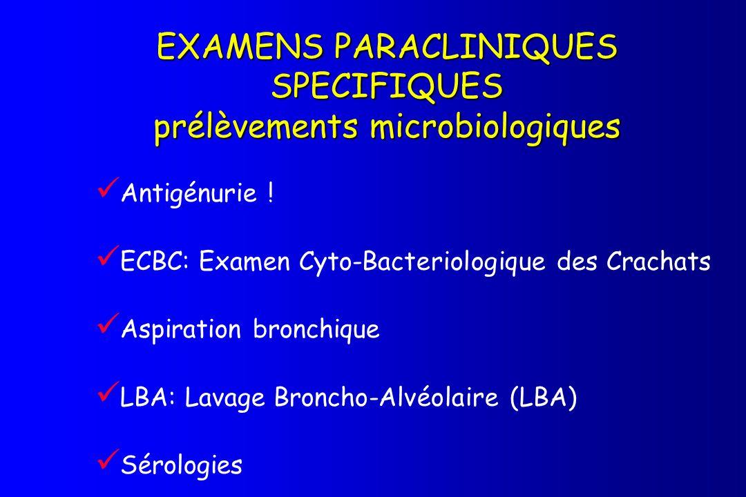 EXAMENS PARACLINIQUES SPECIFIQUES prélèvements microbiologiques