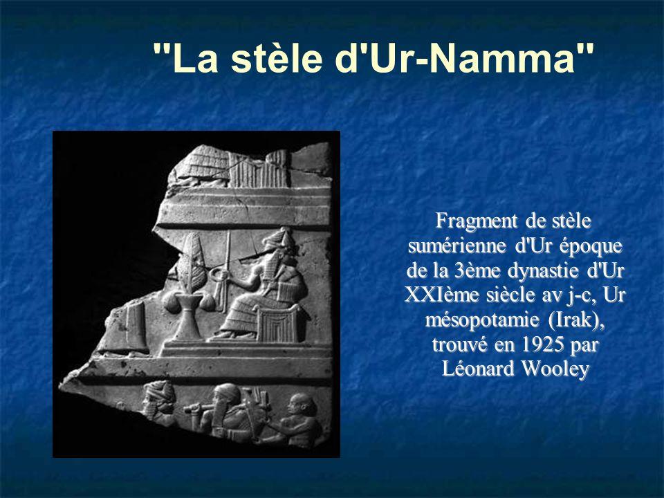 La stèle d Ur-Namma