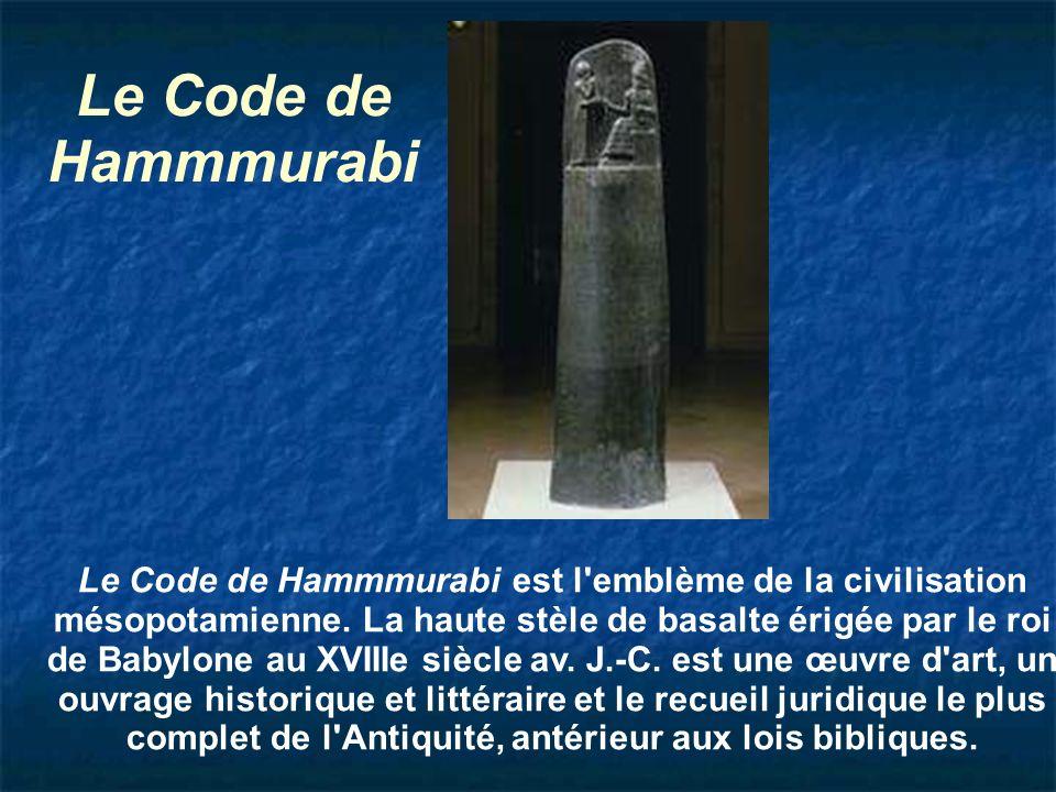 Le Code de Hammmurabi