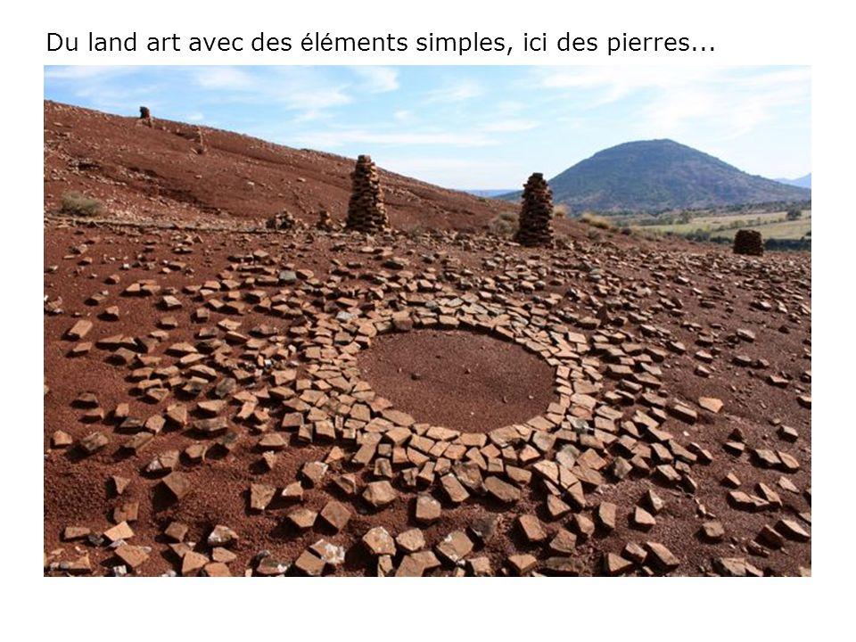 Du land art avec des éléments simples, ici des pierres...
