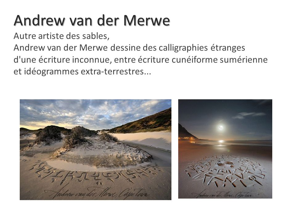 Andrew van der Merwe Autre artiste des sables,