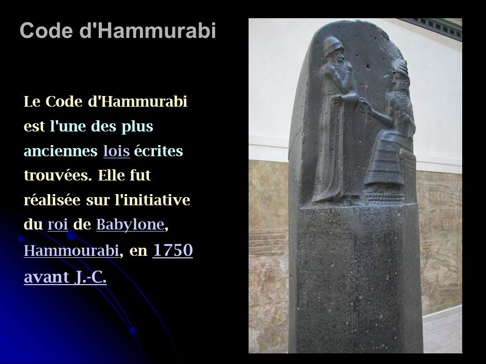 Code d Hammurabi