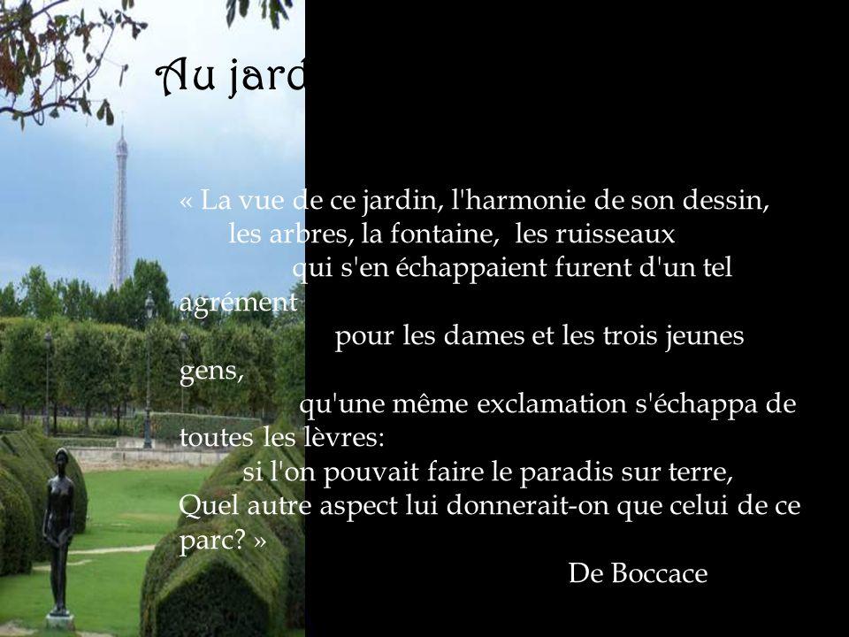 Au jardin des Tuileries…
