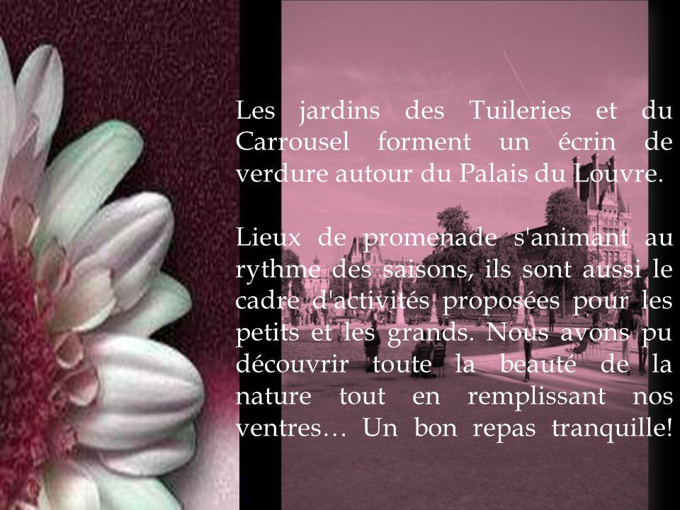 Les jardins des Tuileries et du Carrousel forment un écrin de verdure autour du Palais du Louvre.