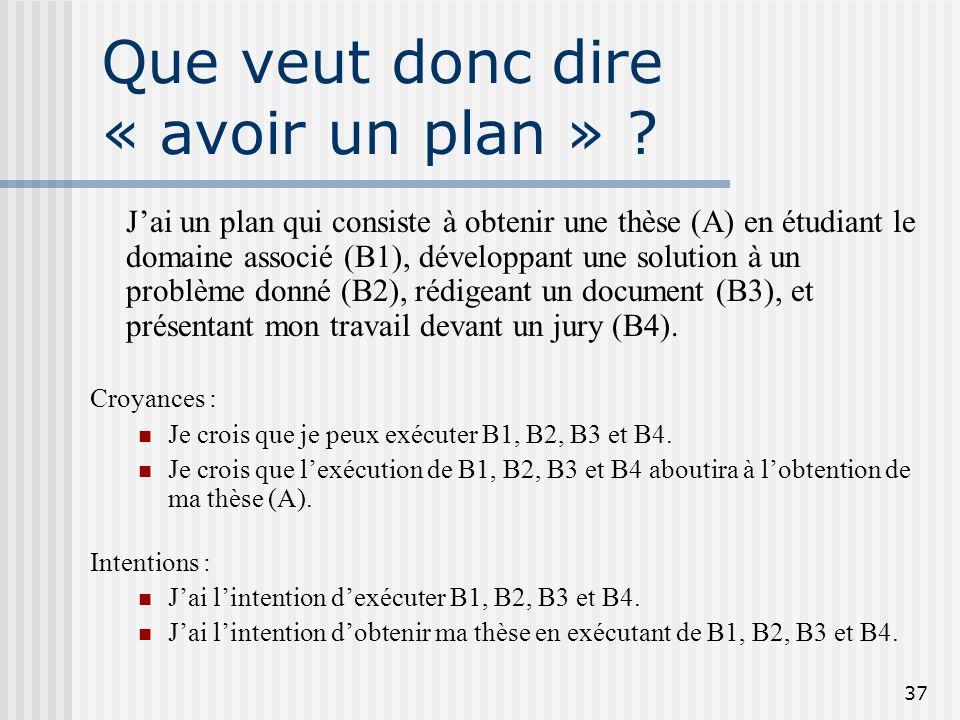 Que veut donc dire « avoir un plan »