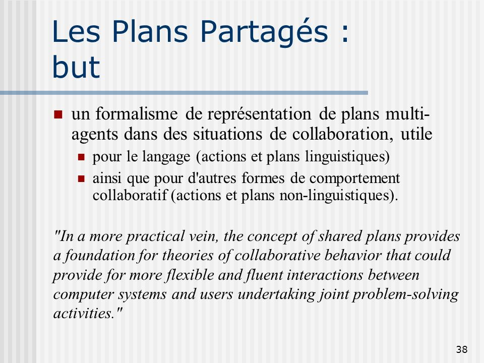 Les Plans Partagés : but