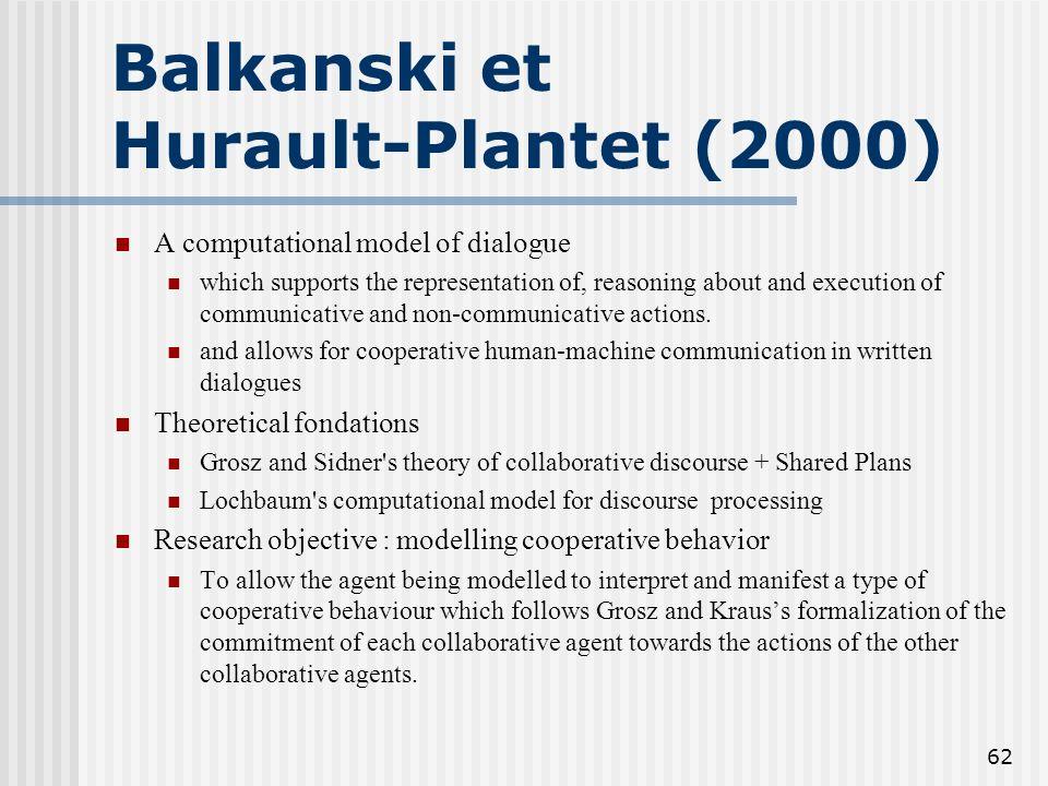 Balkanski et Hurault-Plantet (2000)