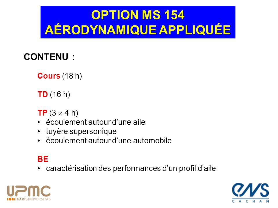 OPTION MS 154 AÉRODYNAMIQUE APPLIQUÉE