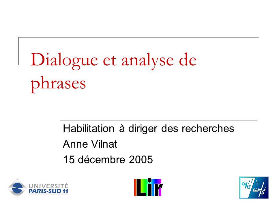 Dialogue et analyse de phrases