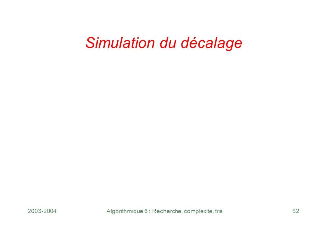 Simulation du décalage