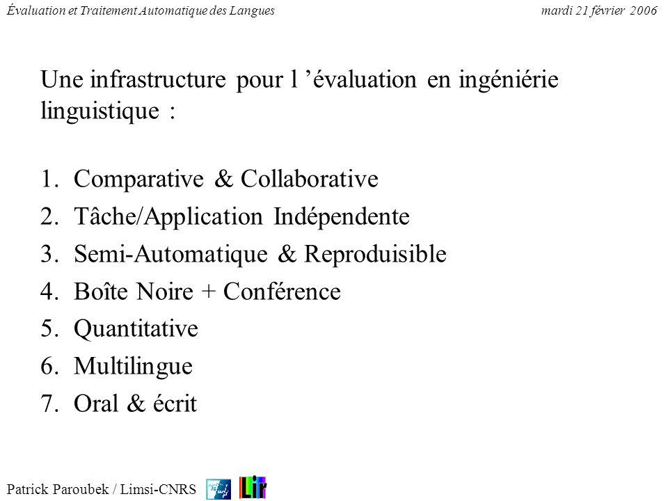 Une infrastructure pour l 'évaluation en ingéniérie