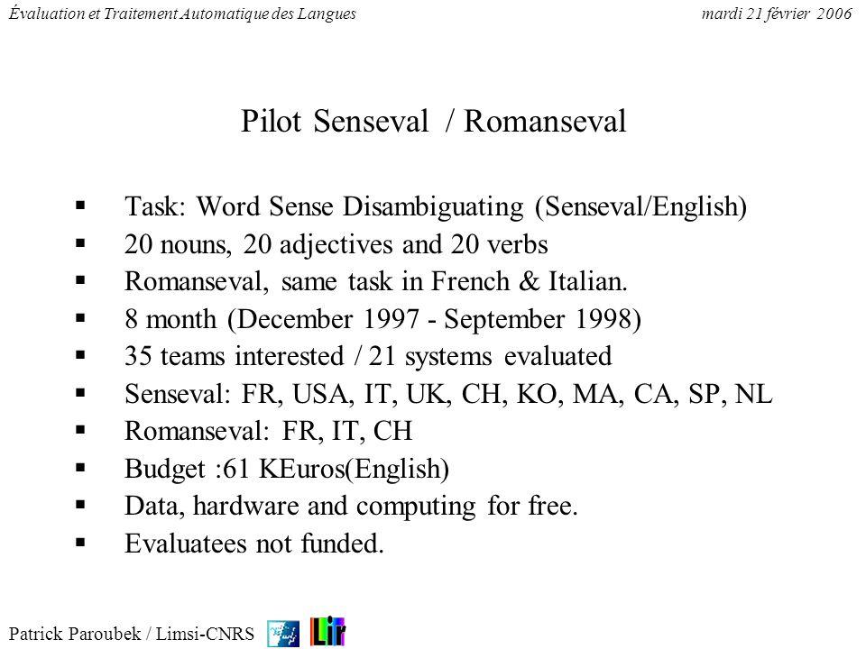Pilot Senseval / Romanseval