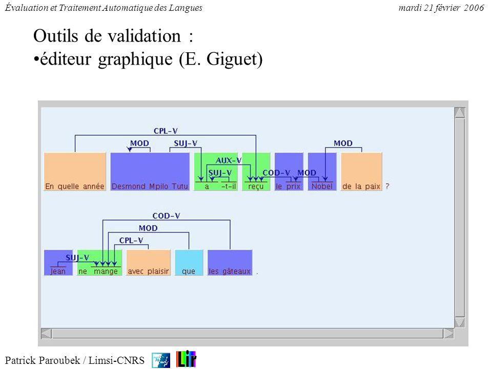 Outils de validation : éditeur graphique (E. Giguet)