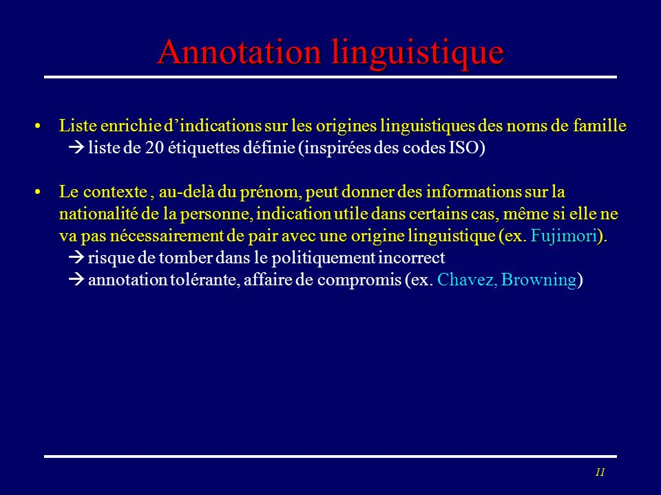 Annotation linguistique