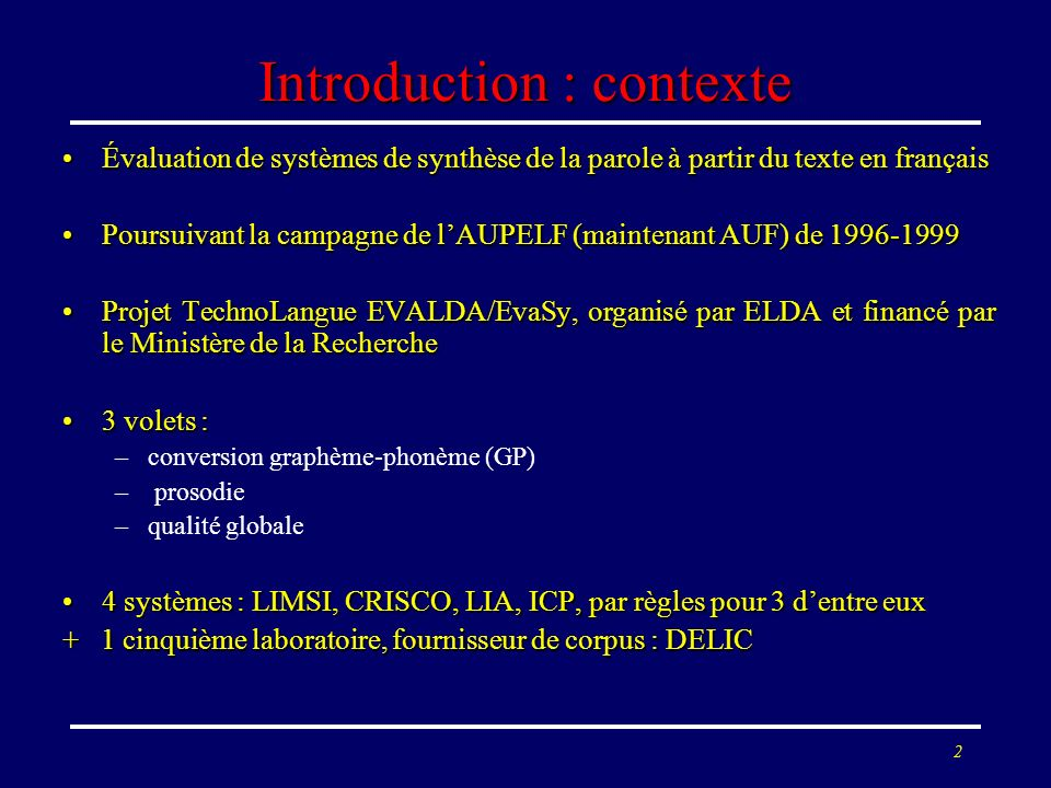 Introduction : contexte