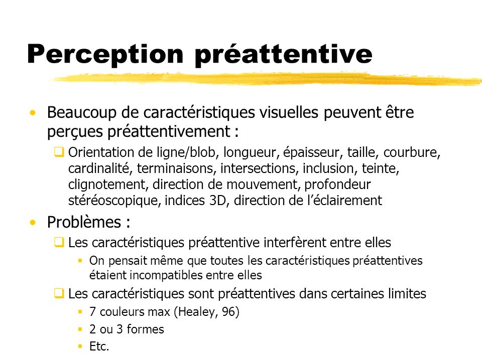 Perception préattentive