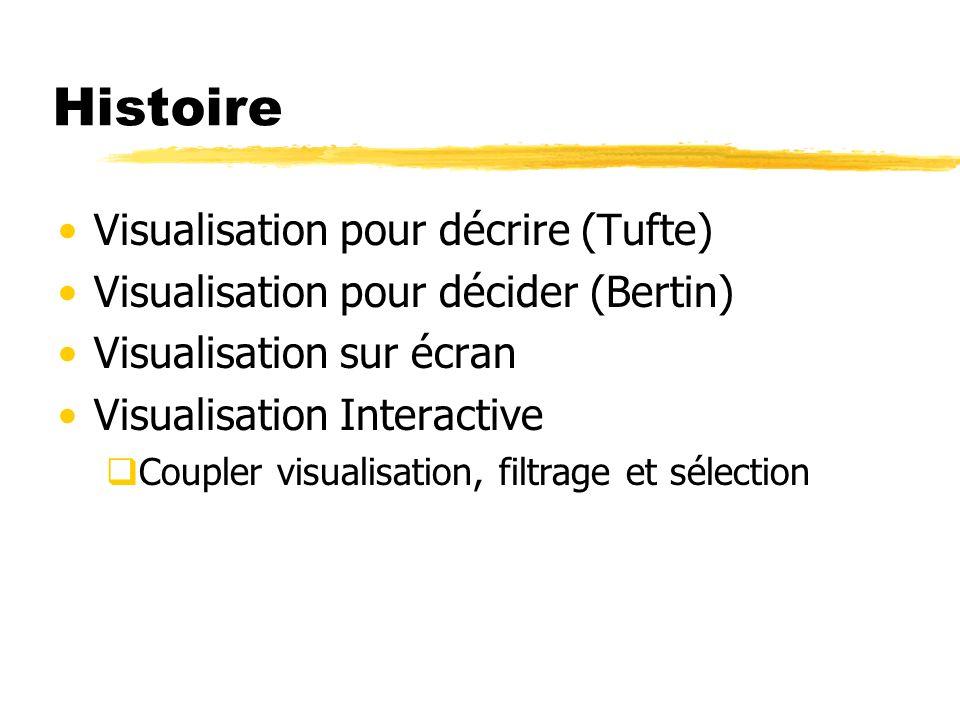 Histoire Visualisation pour décrire (Tufte)