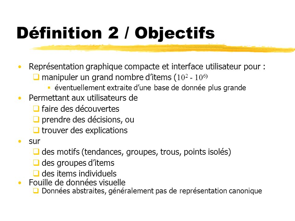 Définition 2 / Objectifs