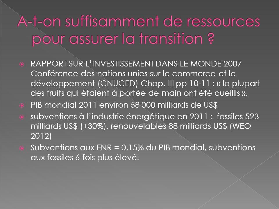 A-t-on suffisamment de ressources pour assurer la transition