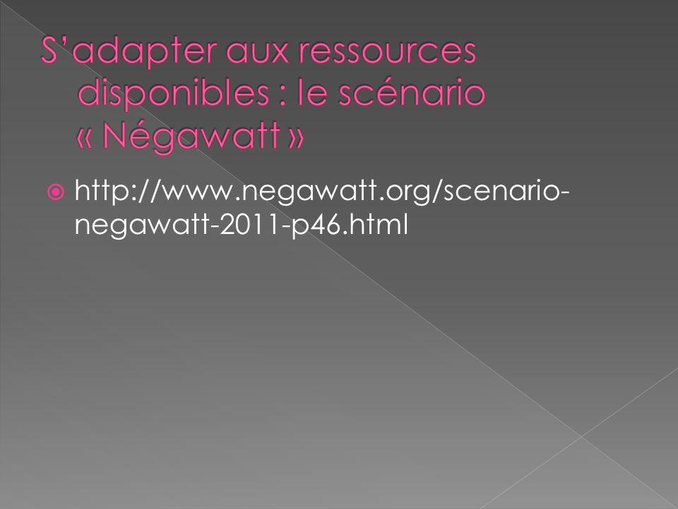 S'adapter aux ressources disponibles : le scénario « Négawatt »