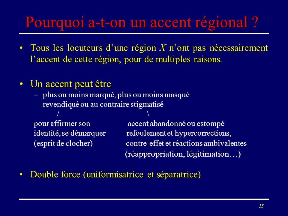 Pourquoi a-t-on un accent régional