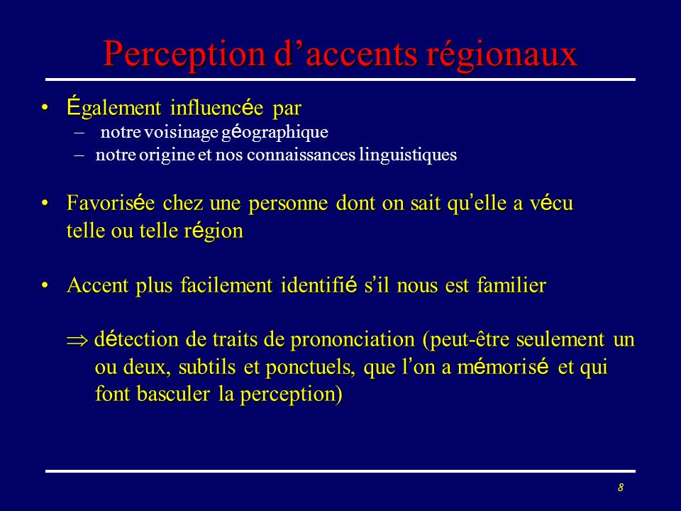 Perception d'accents régionaux