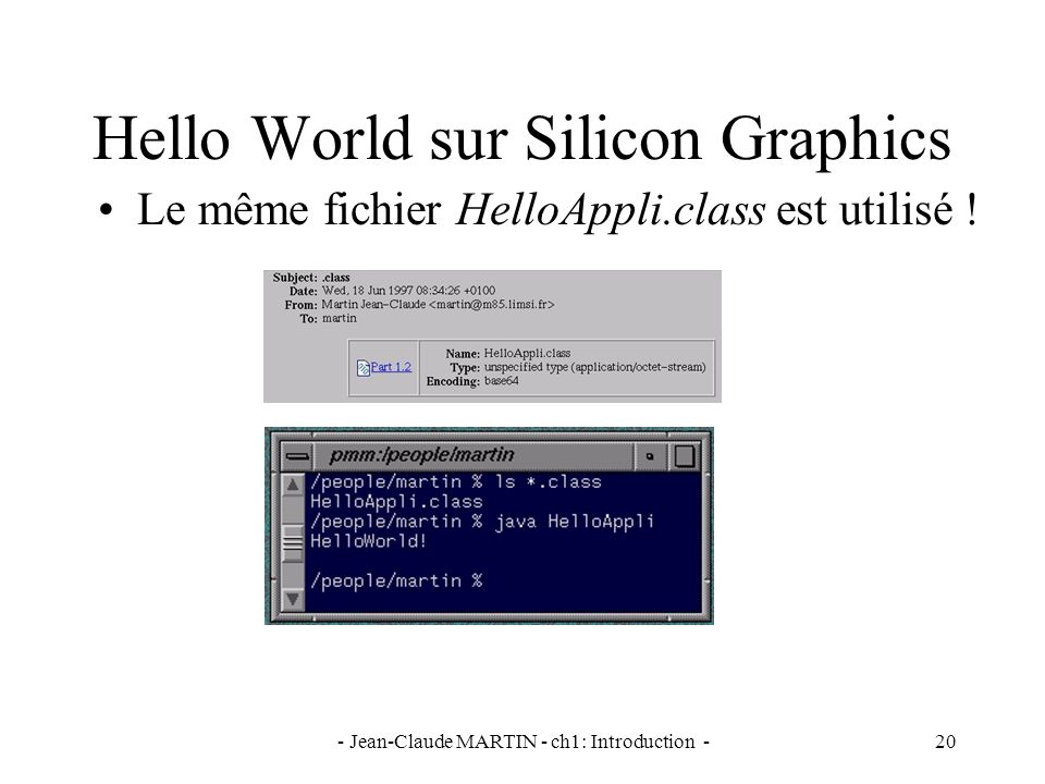 Hello World sur Silicon Graphics