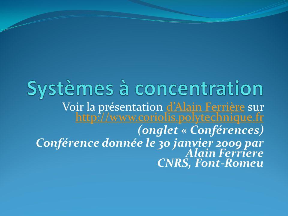 Systèmes à concentration