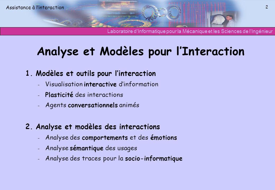 Analyse et Modèles pour l'Interaction