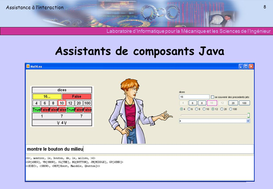 Assistants de composants Java