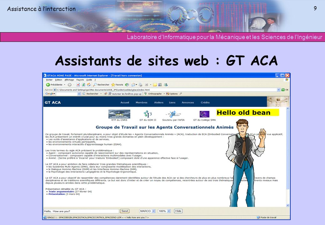 Assistants de sites web : GT ACA
