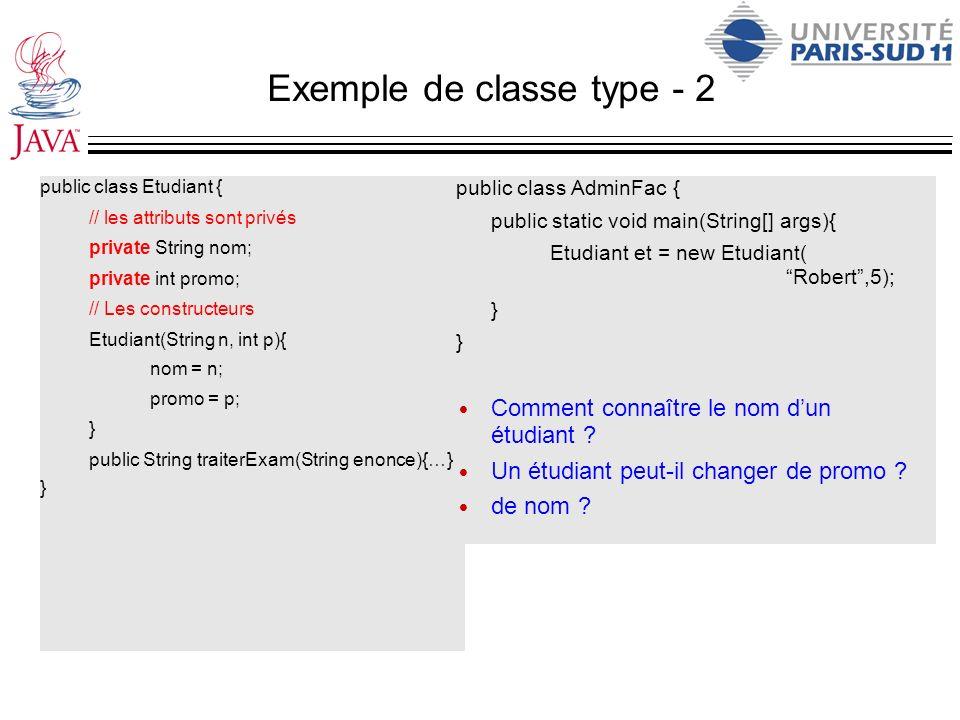 Exemple de classe type - 2