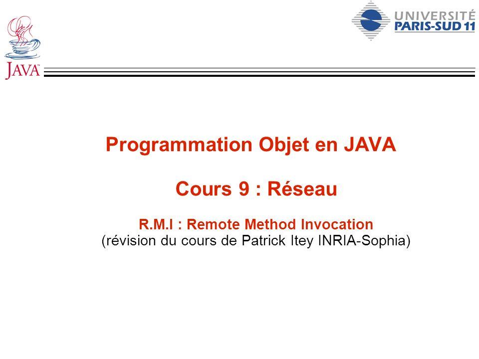 Programmation Objet en JAVA Cours 9 : Réseau R. M
