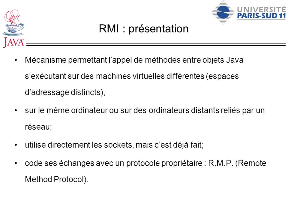 RMI : présentation