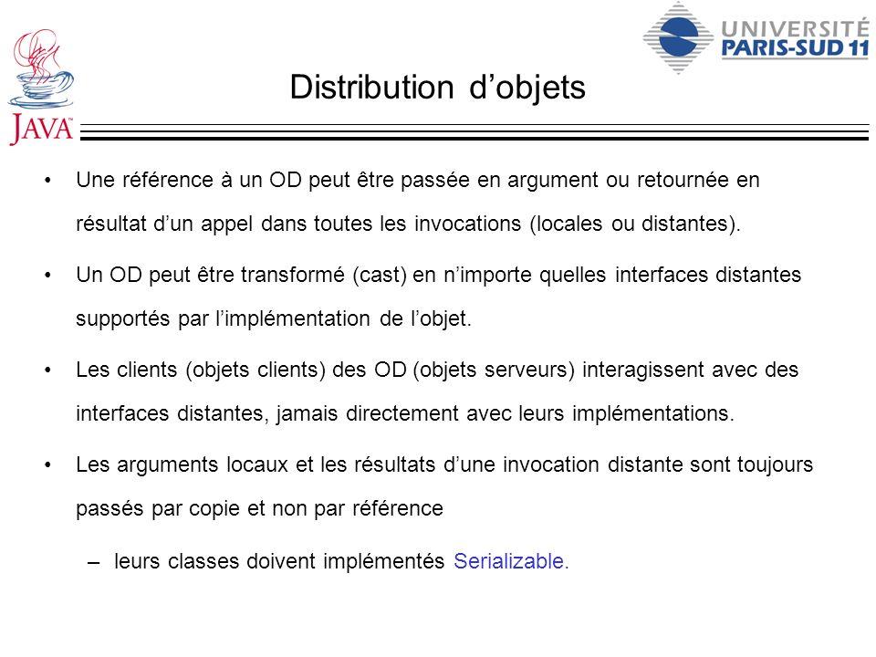 Distribution d'objets