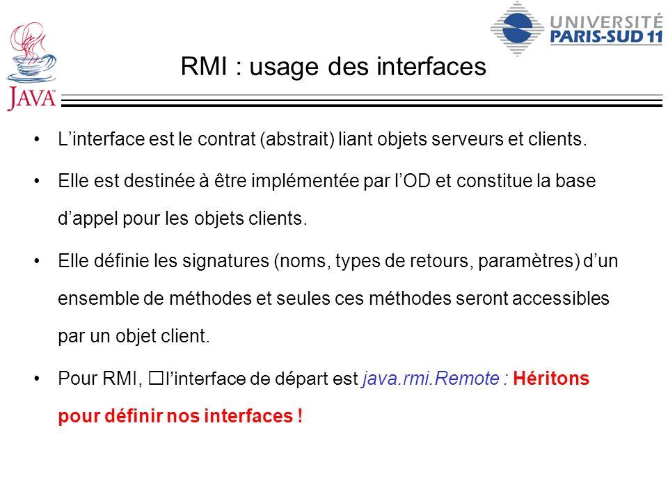 RMI : usage des interfaces