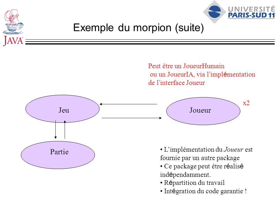 Exemple du morpion (suite)