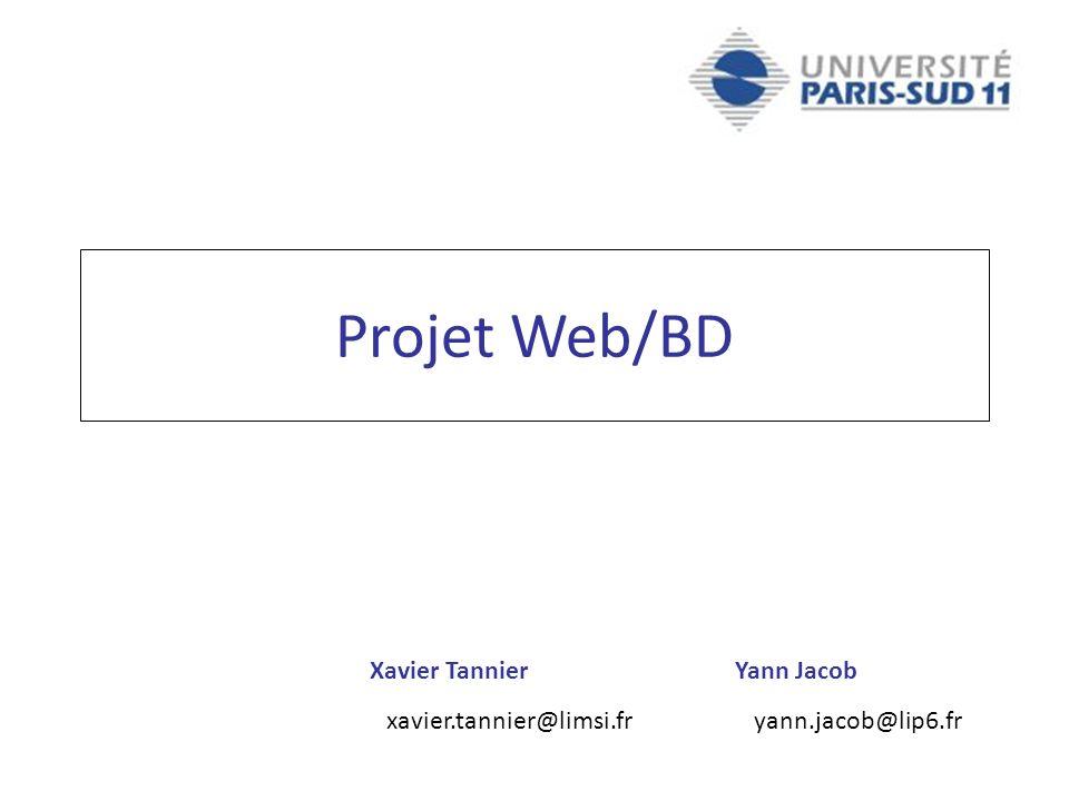 Projet Web/BD