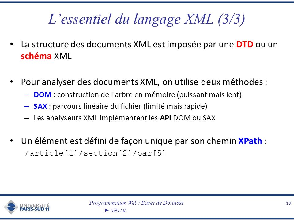 L'essentiel du langage XML (3/3)