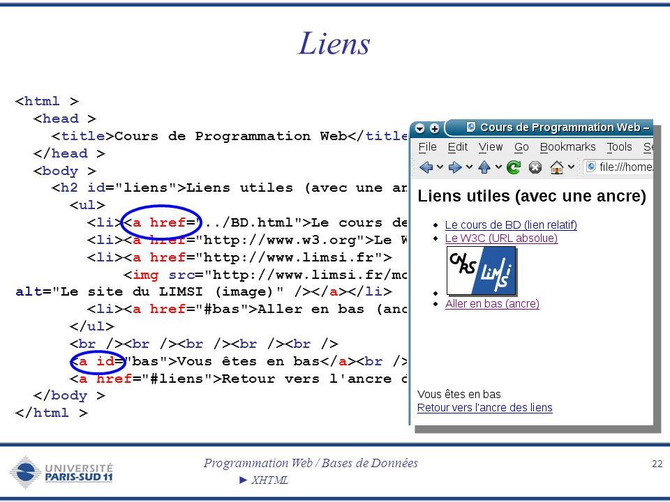 Liens <html > <head >