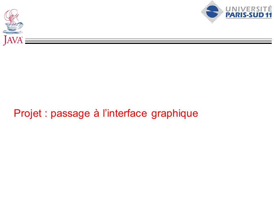 Projet : passage à l'interface graphique