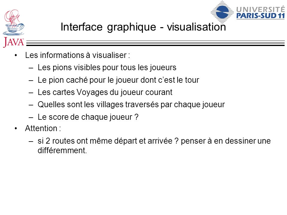 Interface graphique - visualisation