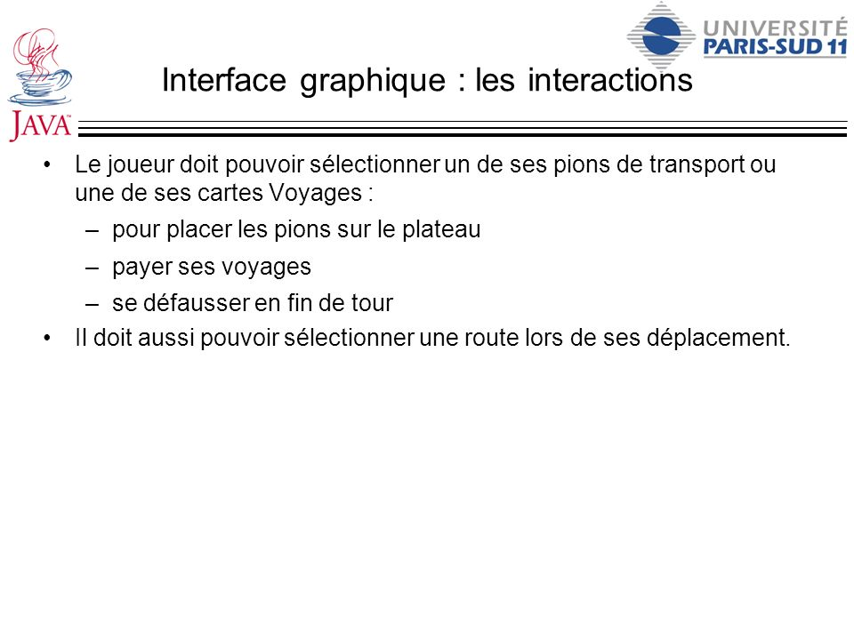 Interface graphique : les interactions