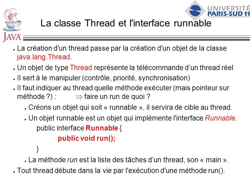 La classe Thread et l interface runnable