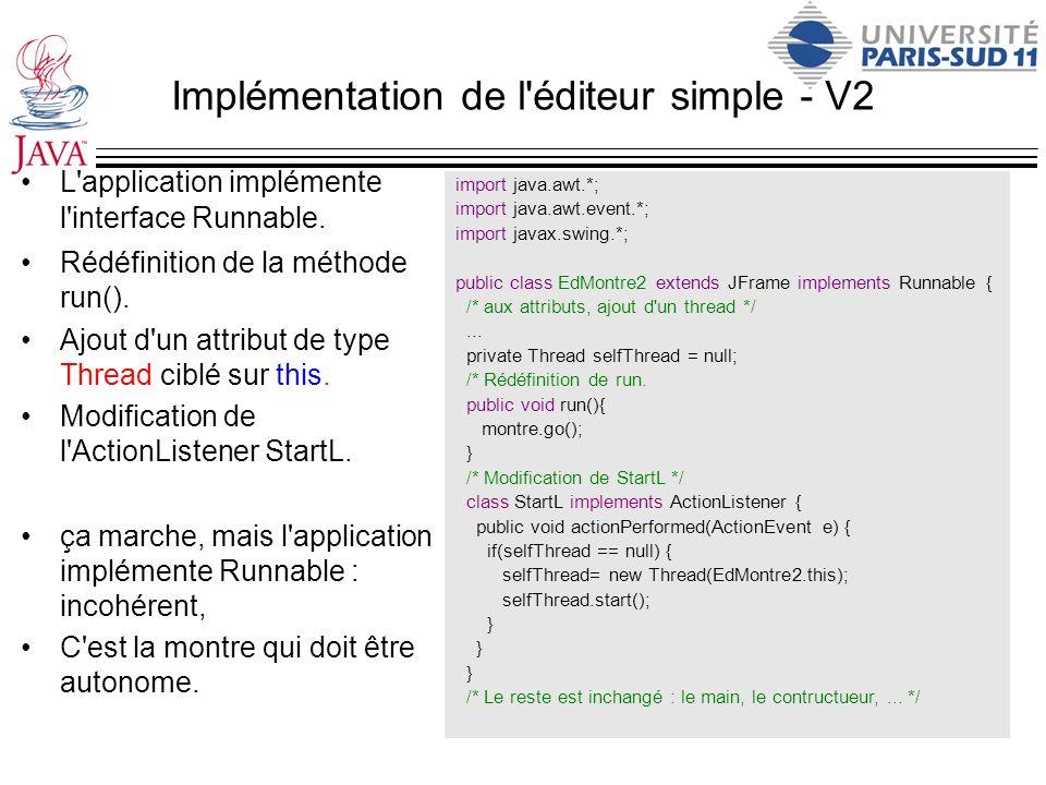 Implémentation de l éditeur simple - V2